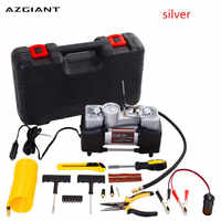 AZGIANT Portable 12V 150PSI Double Cylinder Inflatable Pump With Suitcase Car Air Compressor With Toolbox Inflatable Pump