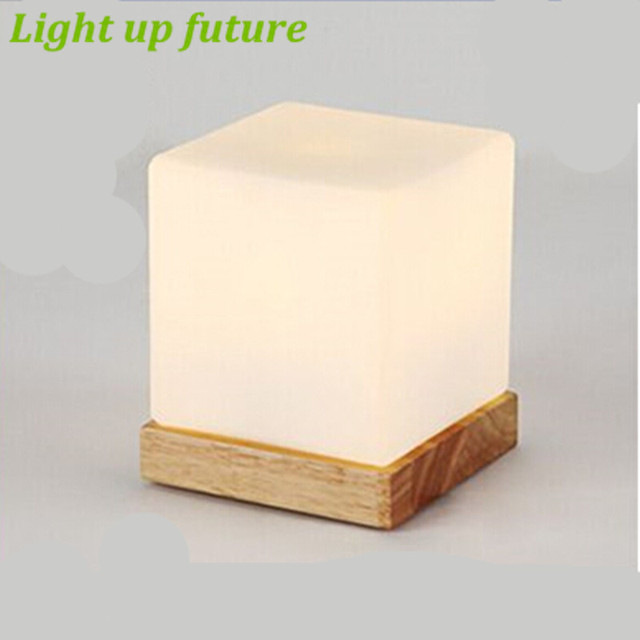 Modern ice cube led e27 table lamp glass wooden dimmable table lamp modern ice cube led e27 table lamp glass wooden dimmable table lamp for bedroom bar restaurant mozeypictures Gallery