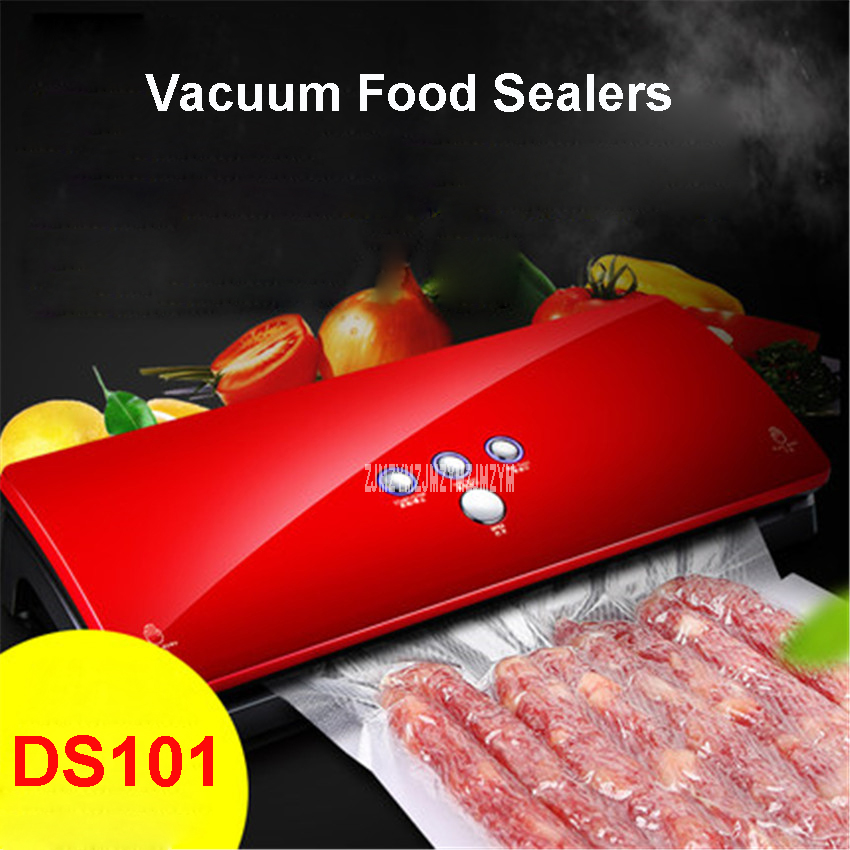 DS101 100-240V KitchenBoss sealer Empty Family Vacuum Automatic Sealing time 6-10 seconds Vacuum packaging machine Food Sealers household vacuum packaging sealing machine sealer wet and dry use 30cm 110w 220v