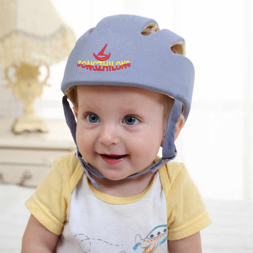 Suit for 6 Months-5 Years Old 5 Colors For Choose Infant Baby Safety Helmet Kids Head Protection Hat For Running Walking Crawling Blue as described Made of Cotton