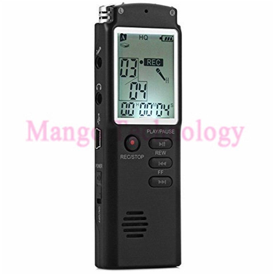 2017 2 en 1 T60 professionnel 8 GB affichage de l'heure enregistrement numérique voix/Dictaphone lecteur MP3 Grabadora enregistreur Audio livraison gratuite