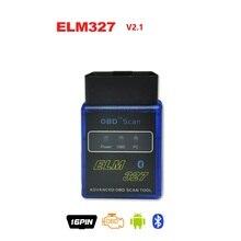 2016 New MINI ELM327 V 2.1 Bluetooth OBD Scan ELM 327 OBD2 / OBDII 16pin V2.1 Code Scanner BT Adapter for Gasoline Cars Android