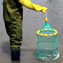 Lawaia Cast Net Outdoor Buoyancy Fishing 3 Fold Folding Portable Fish Cage Multi Float Ball Sea Tools