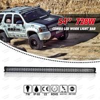 54 inch 728W LED Work Light Bar for Tractor Boat Off Road 4WD Truck SUV ATV Combo Beam 12V 24V