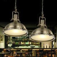 Винтажные подвесные светильники железный стол Hanglamp черный подвесной светильник кухня светильники Luminiares Лофт освещение лампа