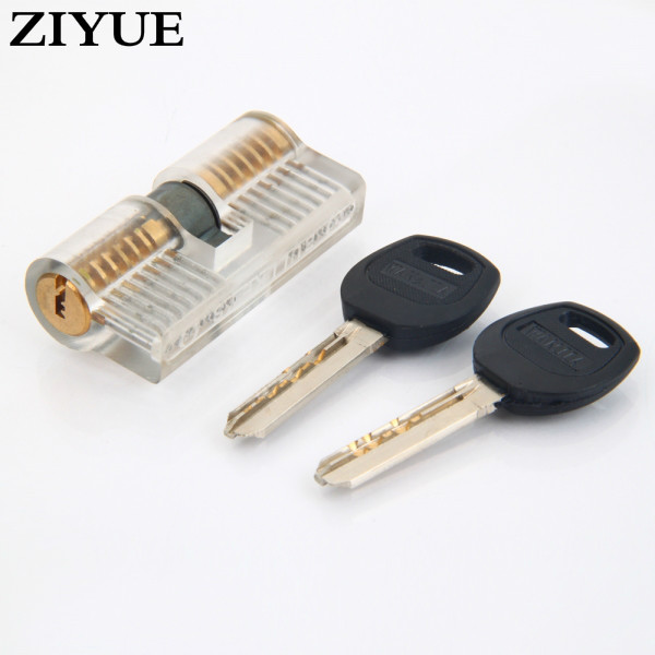 2018 New Real Padlock Free Shipping 10pcs/lot Transparent Cutaway Practice 7 Pins Brass Both End Lock With Keys Locksmith Tools free shipping 10pcs cl520aje clc520aje page 7