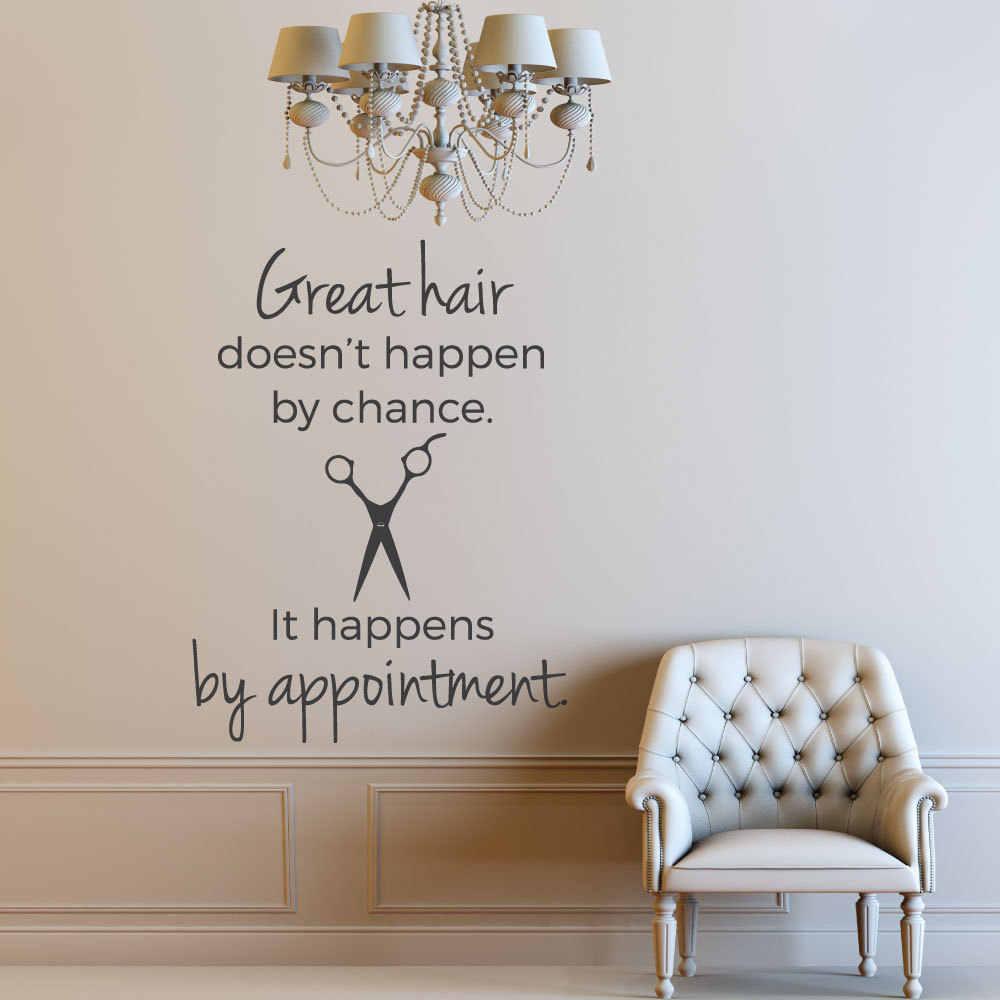 Hair Salon Decor Hair Stylist Wall Decal Hairdress Quote ...