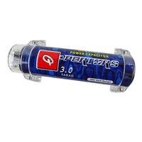 3.0 farad capacitor amplificador de potência áudio do carro reequipamento regulador de armazenamento capacitores cor azul