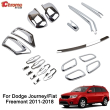 For Dodge Journey Fiat Freemont Rear Fog Light Side Mirror Chrome Cover Trim Molding Accessories Car Styling Sticker 2011 - 2018