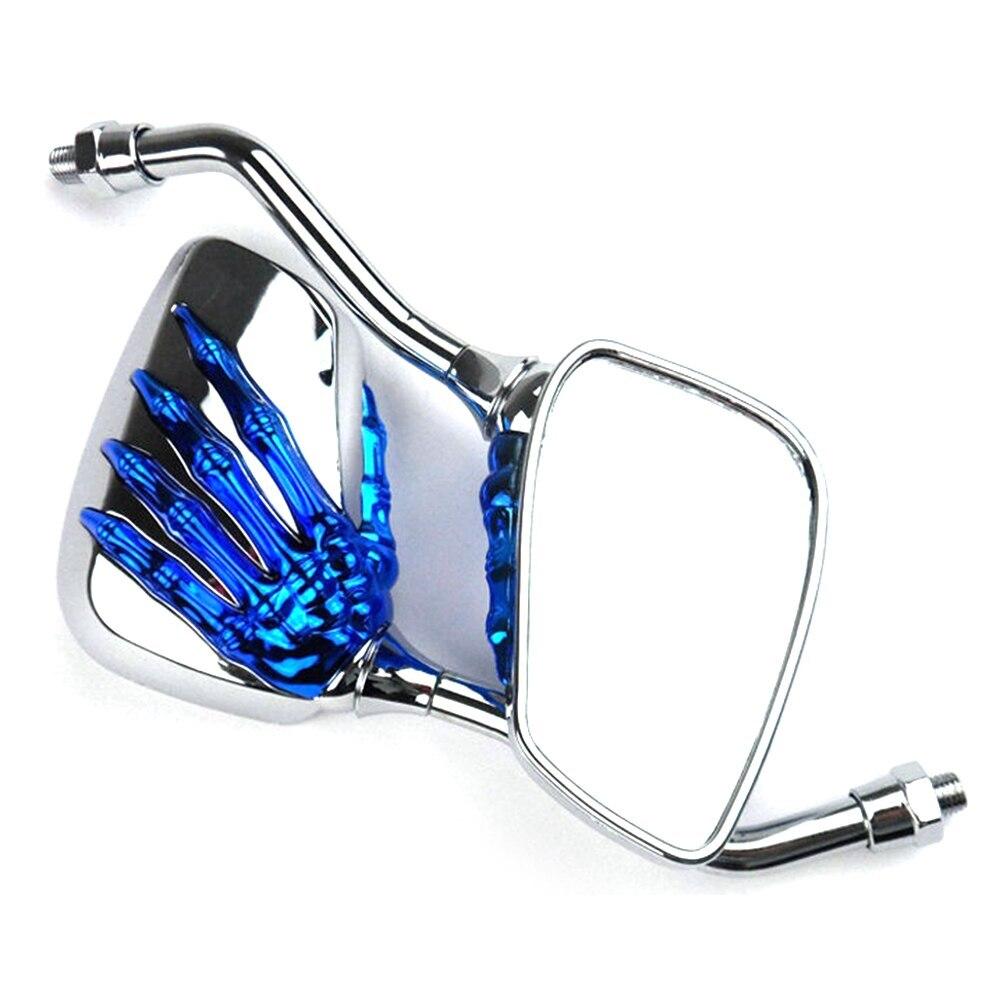 1 Paar Universal Motorrad Aluminium Legierung Lenker Schädel Hand Muster Geist Klaue Einstellbare Rück Seite Glas Spiegel