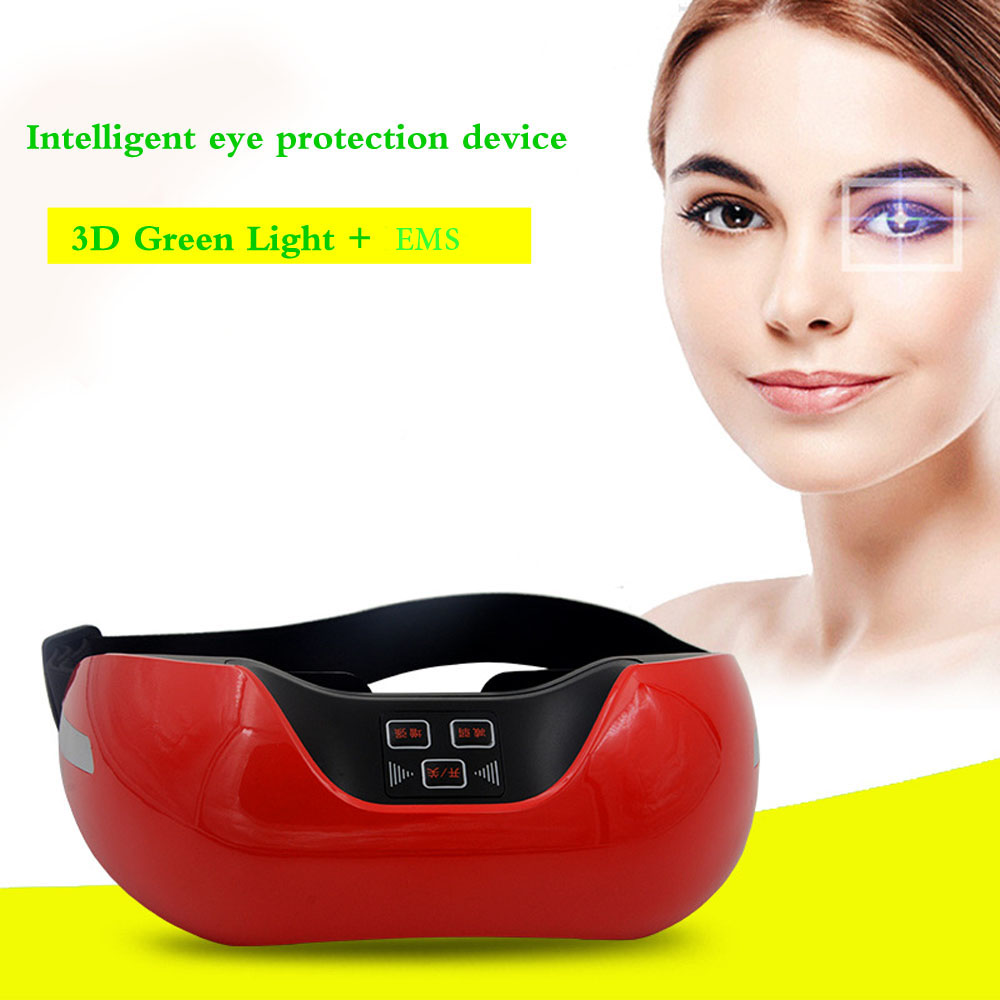 3d Green Light Eye Massager Smart Wireless Usb Rechargeable Eye Care Fatigue Relief Protector Child Vision Prevent Myopia Tool