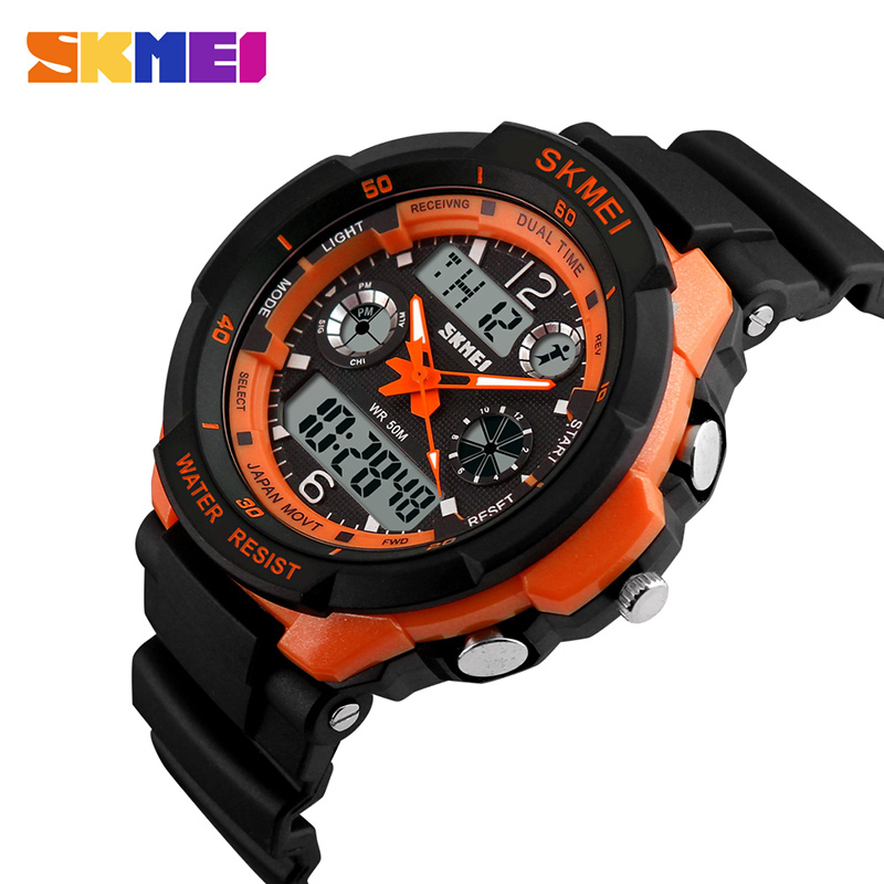 SKMEI Men Digital Wristwatches Sport Watch Fashion Brand Dual Time Display Alarm Chrono Watches 50M Waterproof Relogio Masculino 2017 new top fashion time limited relogio masculino mans watches sale sport watch blacl waterproof case quartz man wristwatches