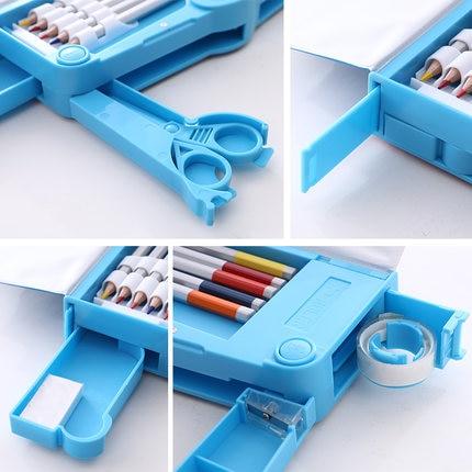 Transformers multi-function pencil case large capacity pencil case cute cartoon creative children single-sided pencil case