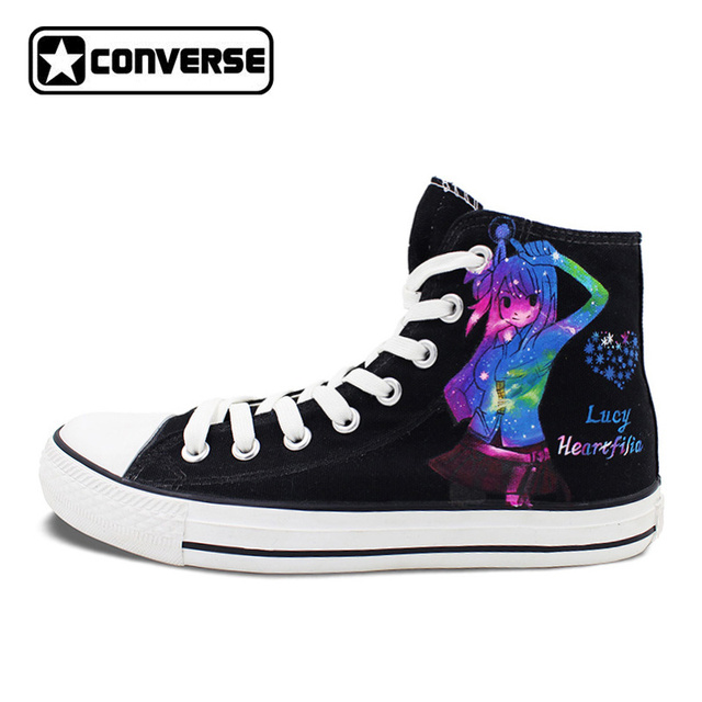 Sneakers Men Women Converse All Star Galaxy Shoes Anime Fairy Tail Design  Hand Painted Sneakers Unique
