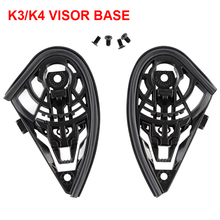 High Quality K3 K4 Helmet Parts Bases Visor Base With M4 Screws Casco Lens Pedestal Motorcycle Accessories