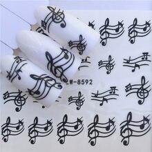 Adesivo de manicure para unhas, adesivos em decalques à prova d'água para unhas, design de unha, acessórios de decoração