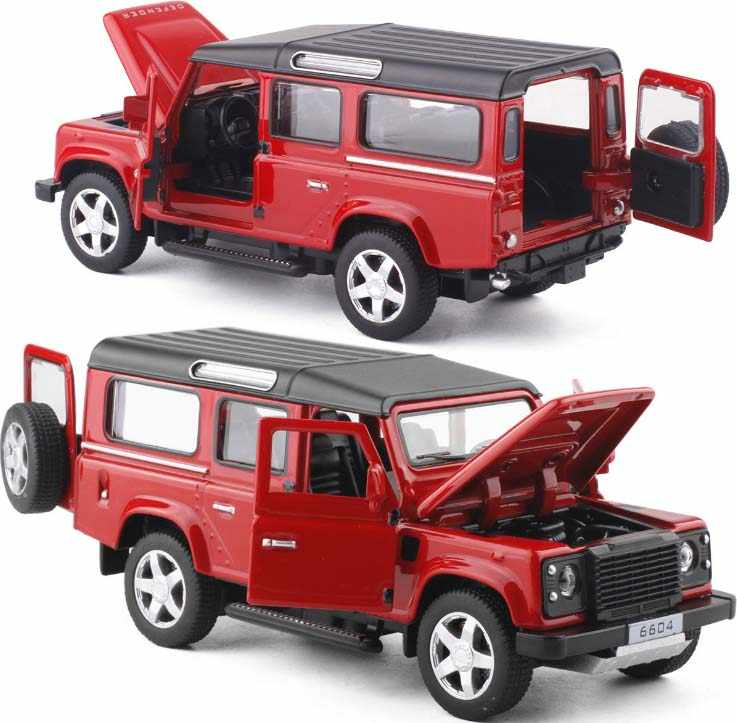 1:32 Excellent SUV Defender 4 Diecast Alloy Metal Cars Toy 4 Doors Openable Light Music Pull Back Car Toys For Kids Gifts