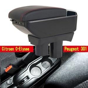 Большой космос + Роскошь + подлокотник с разъемом USB хранения содержимого коробка укладки подходит для Peugeot 301 новый citroen c Elysee 2012-16