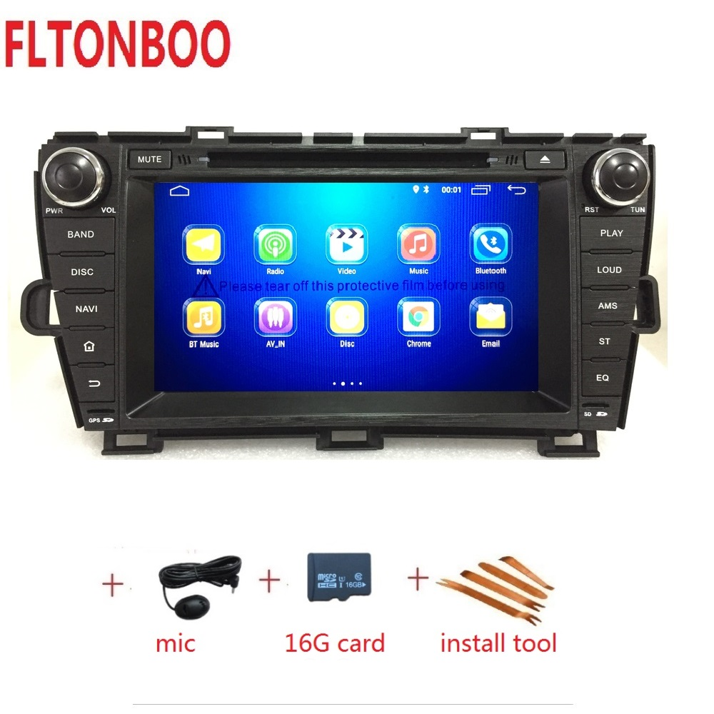 8 Android 8 1for Toyota prius left 2din car dvd gps navigation wifi radio bluetooth Steering
