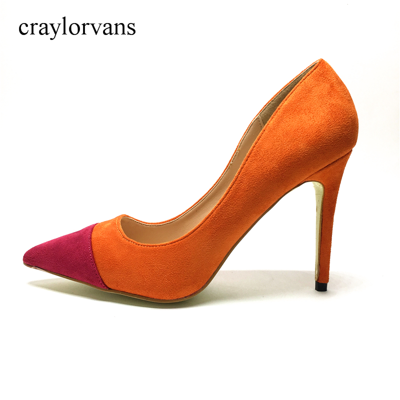 Brand High Heels Shoes Woman High Heels Pumps Wedding Bridal Shoes Orange  Heels Women Shoes High Heels Women Pumps In Womenu0027s Pumps From Shoes On ...
