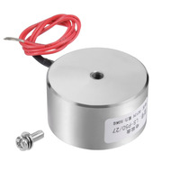 Uxcell 50x27mm Or 65x30mm DC 12V 0.68A 8.16W Sucking Disc Solenoid Lift Holding Electromagnet Magnetic Materials 500N/800N