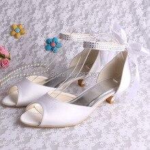 (20 Цветов) Пользовательские Ручной Работы Большой Размер Женский Низком Каблуке Свадебная Обувь Ленты в Спине