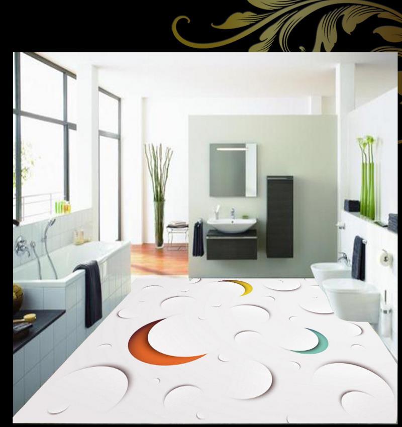 ФОТО 3D floor murals abstract pattern custom 3d flooring painting wallpaper non-slip pvc self-adhesive waterproof floor
