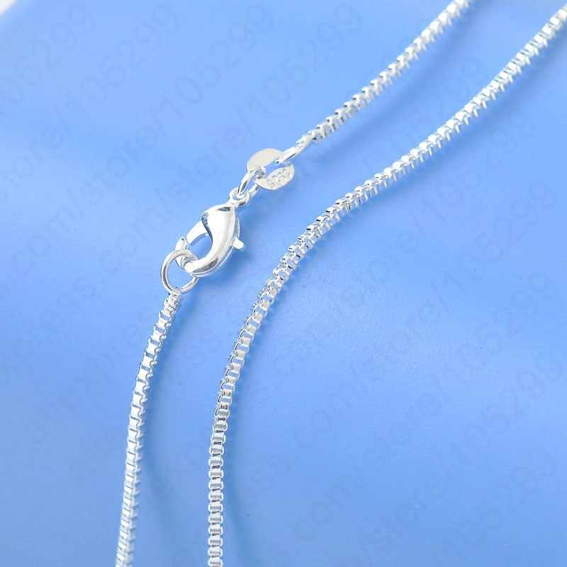 "Top Quality Genuine 925 Sterling Silver Box Veneza Colar Chains Com Lagosta Fechos 16 ""-30"" Para A Escolha"