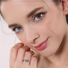 2018 BFQ Special Offer Real  Excellen 100% S925 Sterling Rings Round Shape Women's  Princess Fine Jewelry Rings