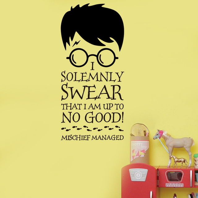Harry Potter I SOLEMNLY SWEAR... Vinyl Wall Decal Home Decor Quotes ...