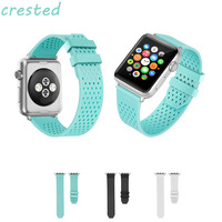 CRESTED Silicone Strap For Apple Watch Band 42mm 38mm Wrist Bracelet Watchband For Iwatch Band 38mm