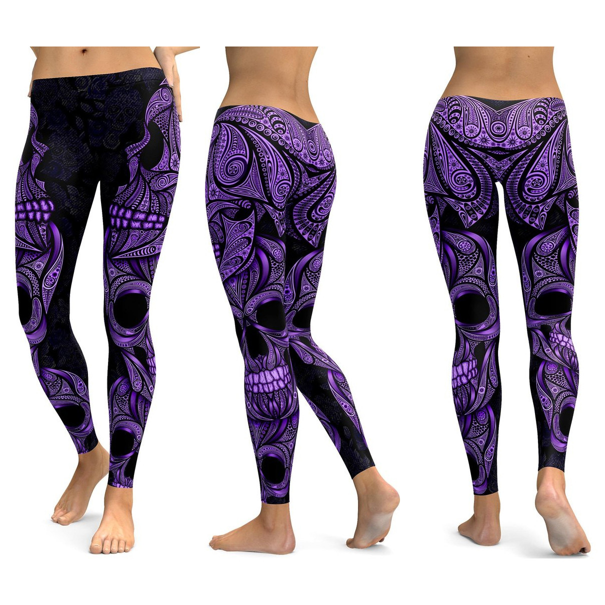 Skull Leggings Yoga Pants Women Sports Pants Fitness Running Sexy Push Up Gym Wear Elastic Slim Workout Leggings 33