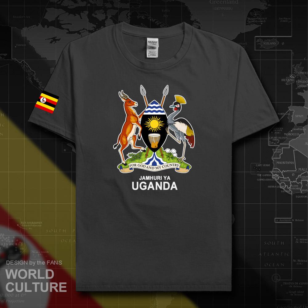 Uganda Ugandan men t shirt fashion 2018 <font><b>jerseys</b></font> team nation 100% cotton t-shirt gyms clothing tees country sporting flags <font><b>UGA</b></font> 20 image