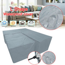 Grey L Shape Furniture Cover Kit Sofa Protective Cover Table Dust Cover Home Supplies S/M/L/XL(China)