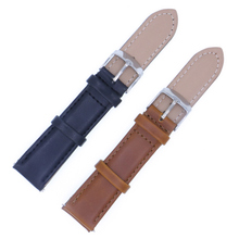 Genuine leather watch straps stainless steel buckle strap band closure 16.18 20.22 24mm