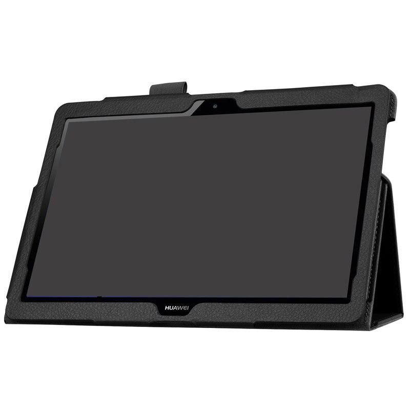 Di vibrazione DELL'UNITÀ di elaborazione di Cassa del Cuoio di Affari Per Huawei MediaPad T3 10 AGS-L03 AGS-L09 W09 9.6 pollice Tablet Supporto Del Basamento Del Supporto Della Copertura Della Protezione