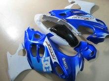 ABS белый синий Обтекатели, установленные для SUZUKI GSX600F GSX750F 96 03 06 GSX600 750F Katana GSXF600 1996 2003 2006 Обтекатель комплект YD10