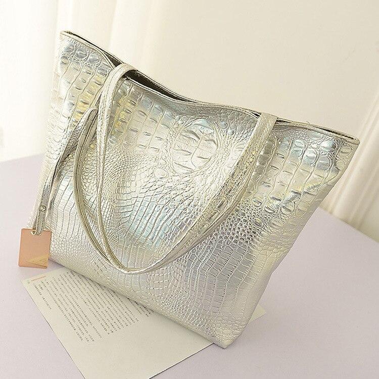 Women Shoulder Bag Female Fashion Handbags Leather Alligator Pattern Purse Women Messenger Bags Envelope Evening Clutch Bag