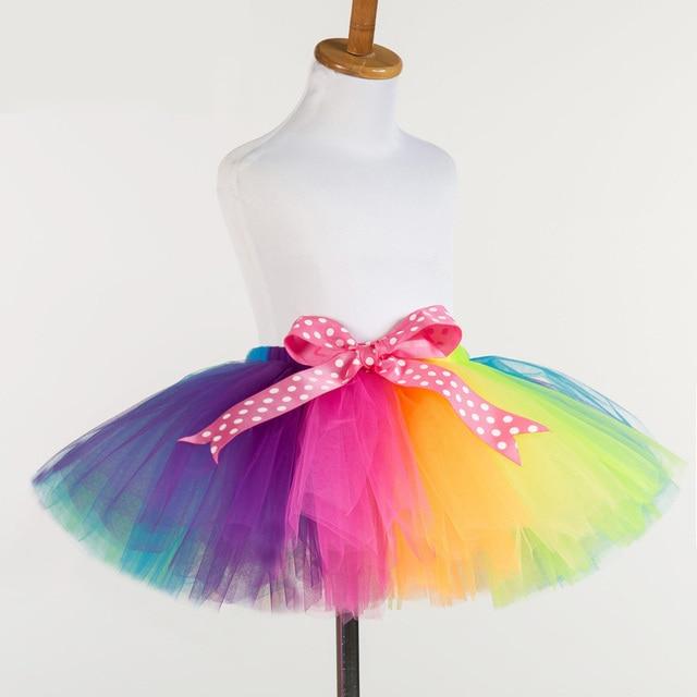 efe4077cb New Fluffy Handmade Rainbow Tutu Skirt Kids Girls Skirts Baby Tutus ...