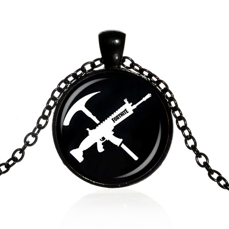 Hot FPS Game Fortnite Battle Royale Necklace Time Gem Pendant Necklace Jewelry for Women ...