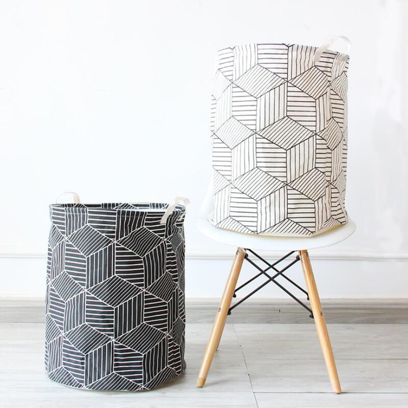 Grandes formas geométricas paño lavandería cesto ropa cestas de ...