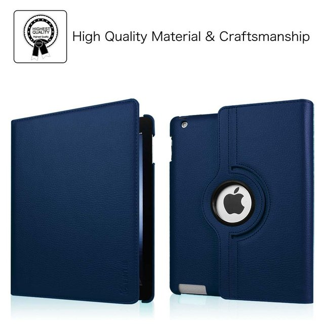Case for Apple iPad 2 3 4 Magnetic Auto Wake Up Sleep Flip Litchi PU Leather Case Cover With Smart Stand Holder for iPad 2/3/4 4