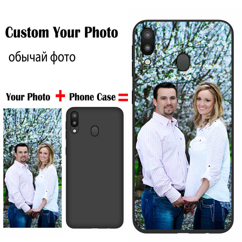 Jurchen Custom Case untuk Samsung Galaxy M10 A10 20 30 40 50 60 70 A20E A6 A8 A9 S A20 inti Catatan 10 10Plus Case DIY Foto Cover