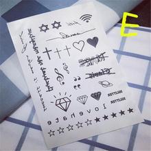 Sale Limited Men Harajuku Waterproof Temporary Tattoo Stickers Cute Pattern Cartoon Designs Styling Tool Diamond Paragraph