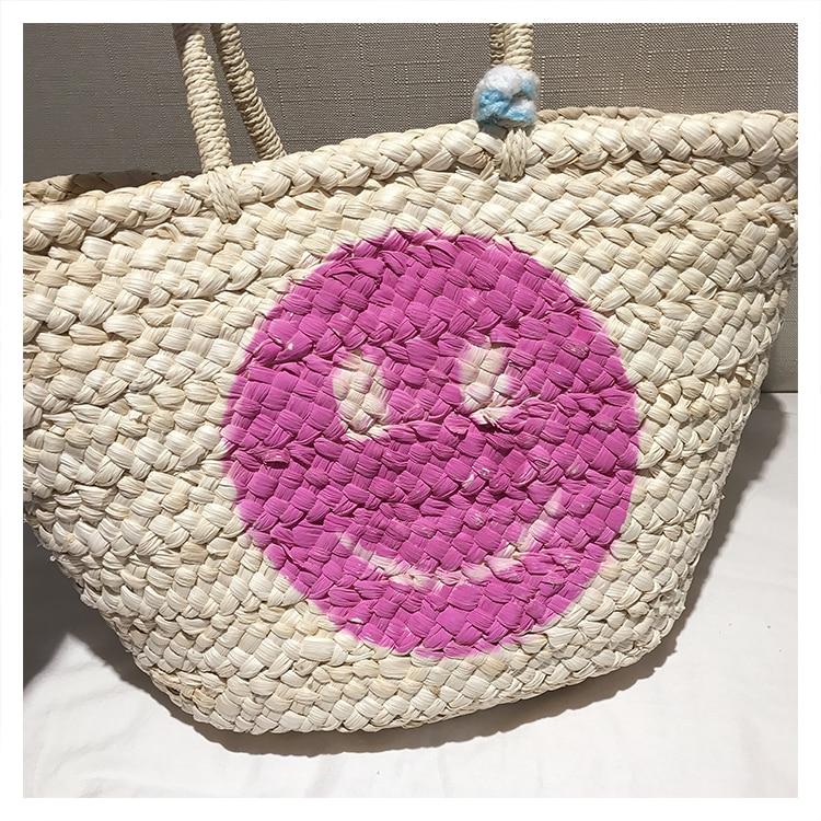 Bolsa Shopper em Palha Smile