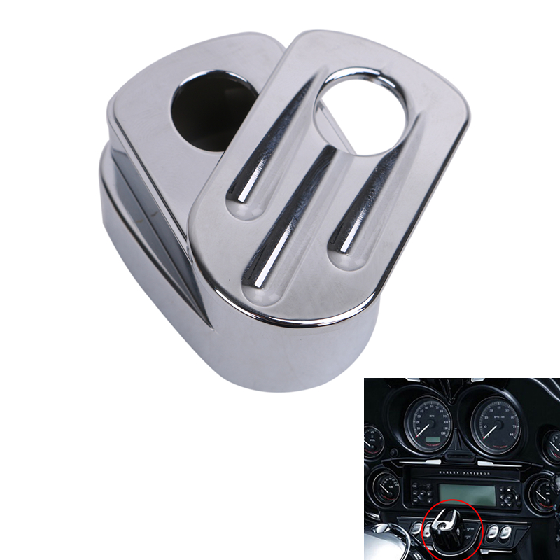 Chrome Billet Aluminum Motorcycle Ignition Switch Cover for Harley Touring Street Road Electra Glide CVO 2014-2017 #MBG273