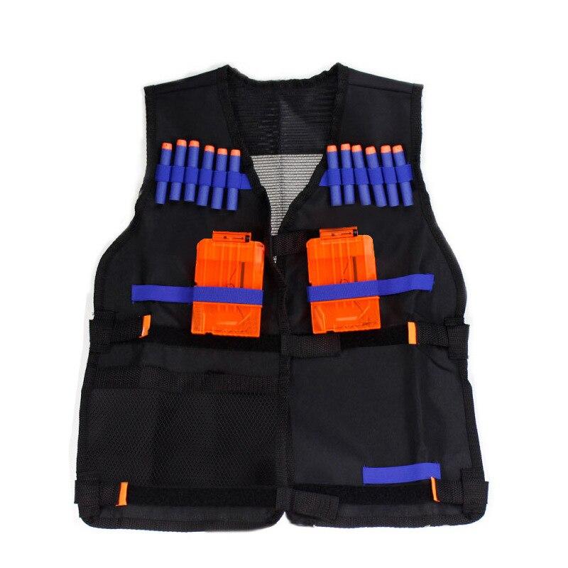 For Children Kids Black Tactical Equipment Waistcoat Holder Elite Pistol Bullets Toy Gun Clip Dart Outdoor Game Equipment