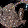 Holographic Nail Glitter Powder Dark Brown Coffee AB Nail Art DIY UV Shiny Glitter Dust Pigment 5g N57