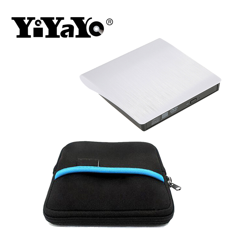 цена на YiYaYo 3d Bluray Player USB 3.0 CD/DVD/BD-ROM CD/DVD RW Burner External Blu-ray Optical Drive for macbook Laptop +Drive bag