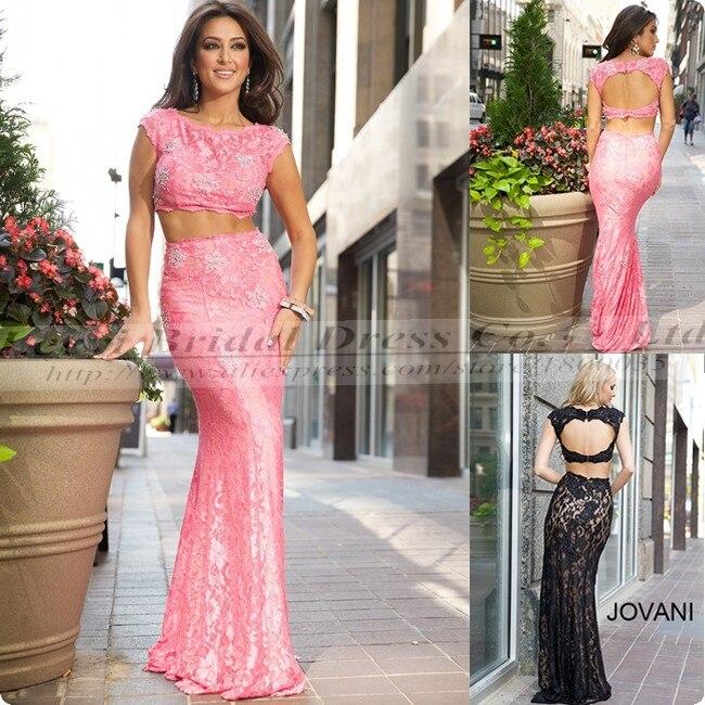 Bonito Vestido De Fiesta De Encaje Negro Largo Ideas Ornamento ...